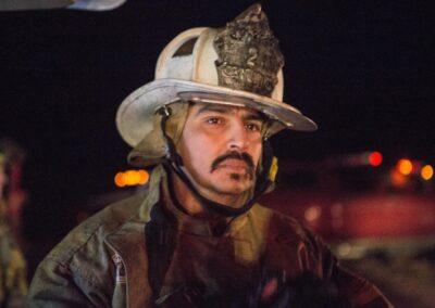 close up of fireman