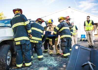 Training moving a person on stretcher