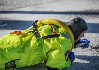 fireman training on ice